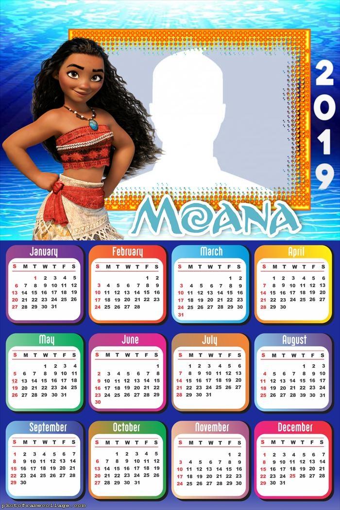 Moana Calendar 2019