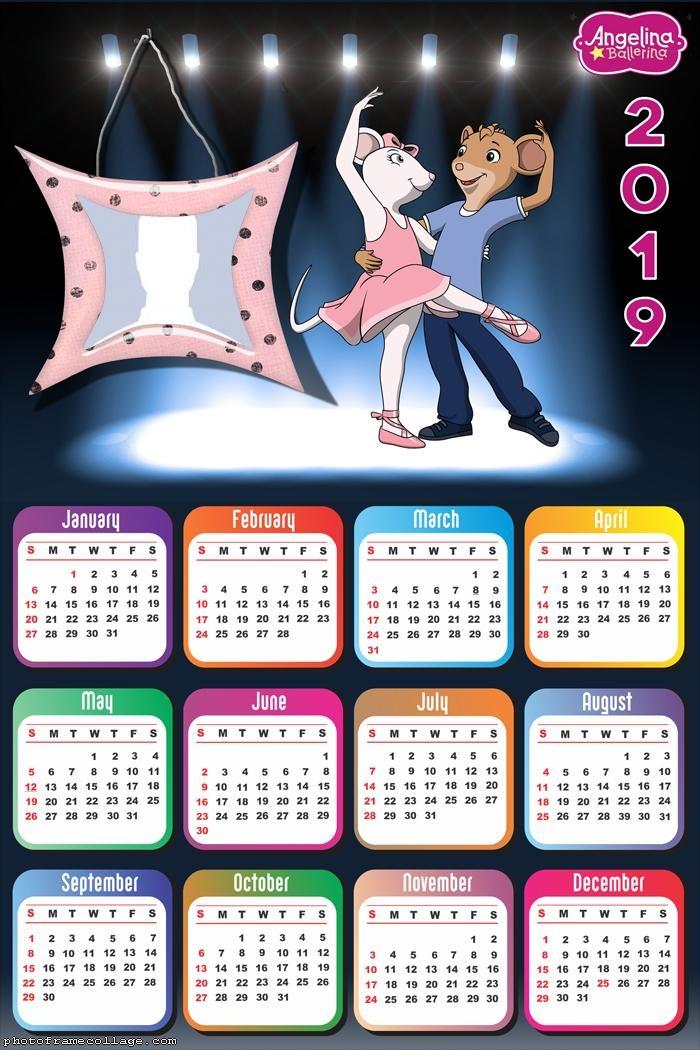 Angelina Ballerina Calendar 2019