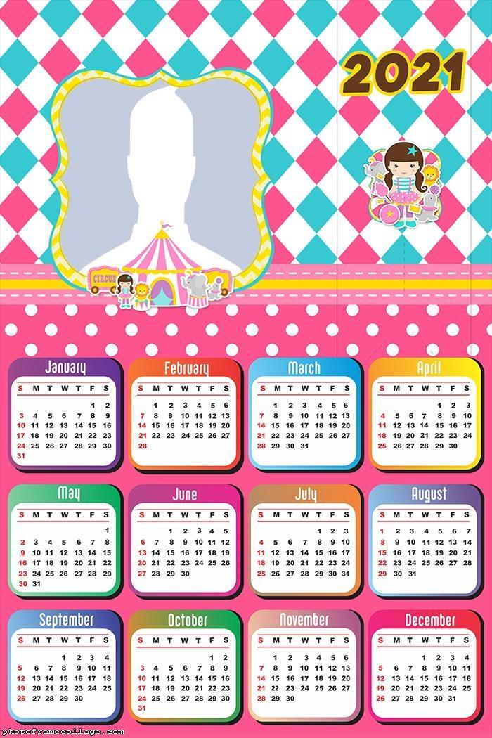 Calendar 2021 Circus Girl