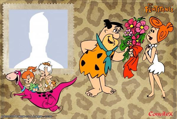 The Flintstones Couple Photo Collage