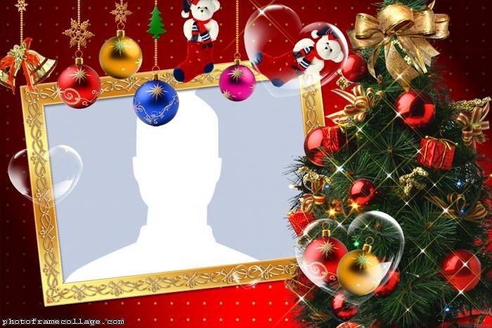 Christmas Tree Frame Photo