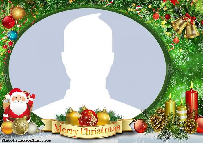 Merry Christmas and Santa Claus Frame Picture
