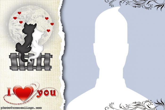 Valentines Day Kittens Collage