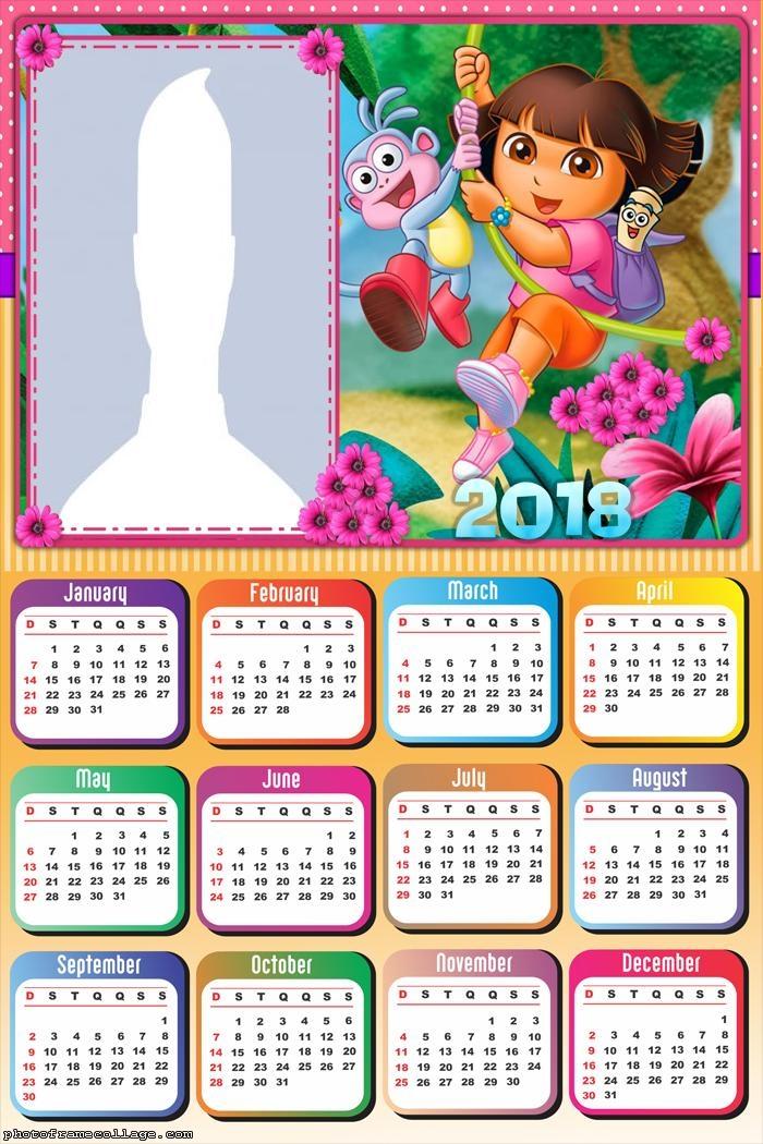 Calendar 2018 Dora the Explorer