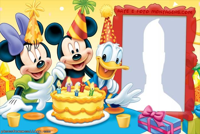 Mickey Birthday Party Photo Collage