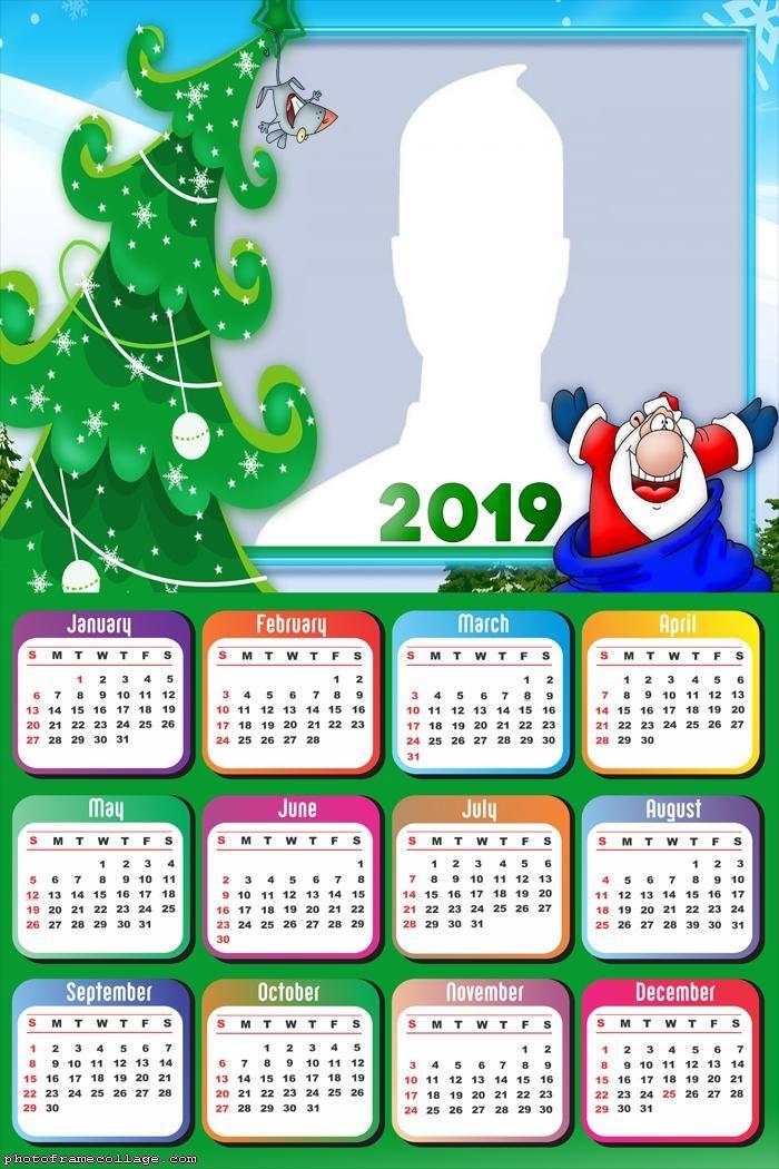 Santa Claus Drawing Calendar 2019