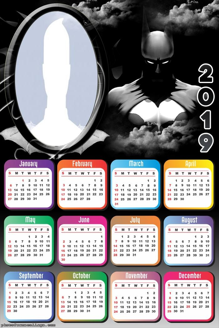 Batman The Dark Knight Calendar 2019