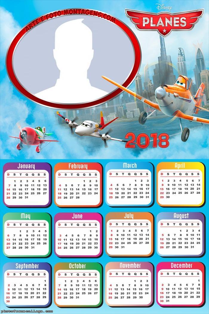 Calendar 2018 Planes