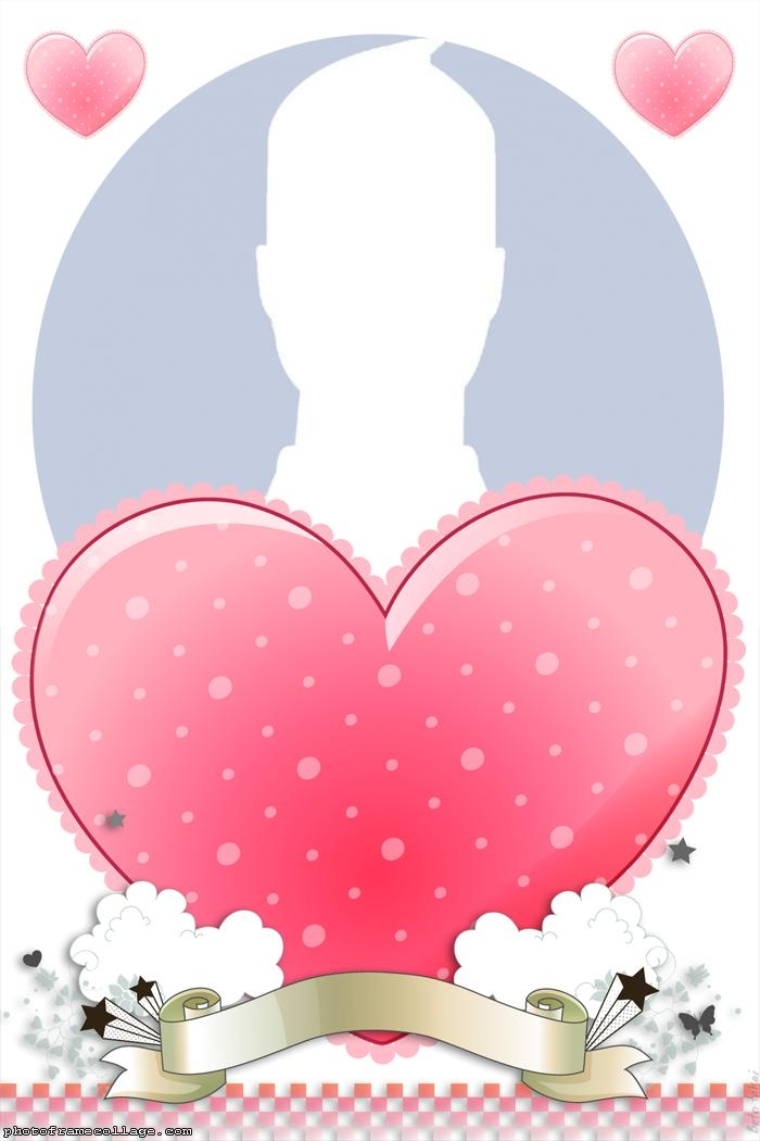 Big Heart Photo Collage