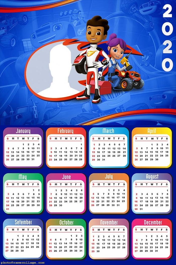 Blaze And The Monster Machines Calendar 2020