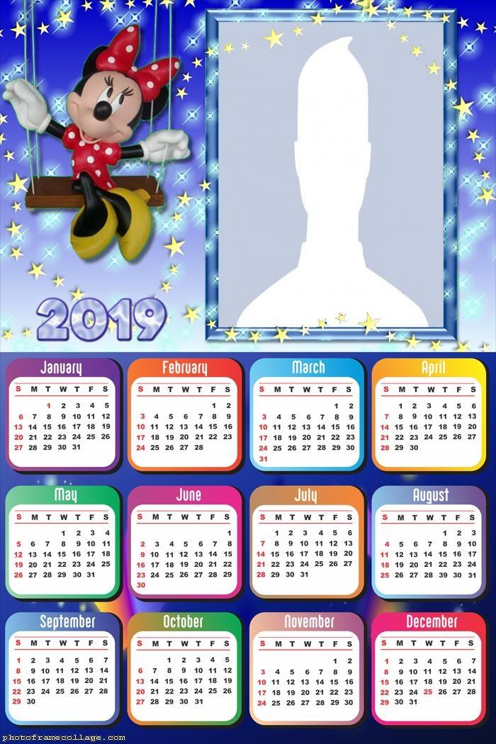 Minnie Calendar 2019