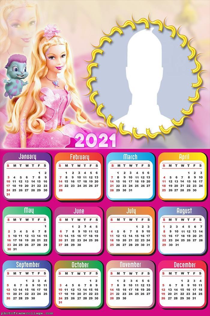 Calendar 2021 Barbie Fairytopiapic