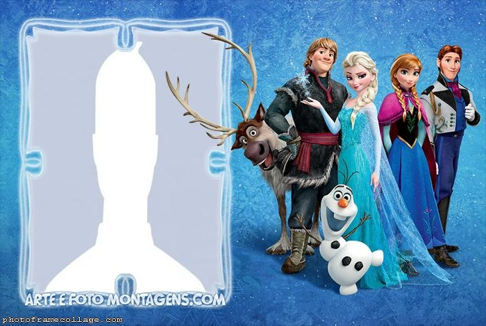 Characters Frozen Photo Montage