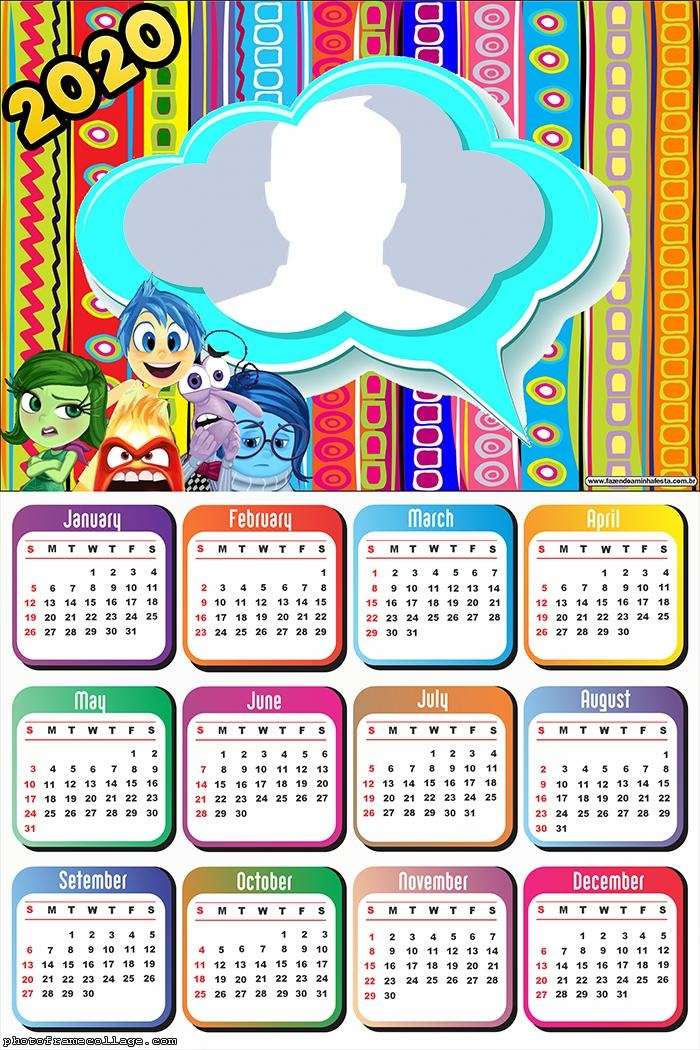 Photo Frame with Inside Out Calendar 2020