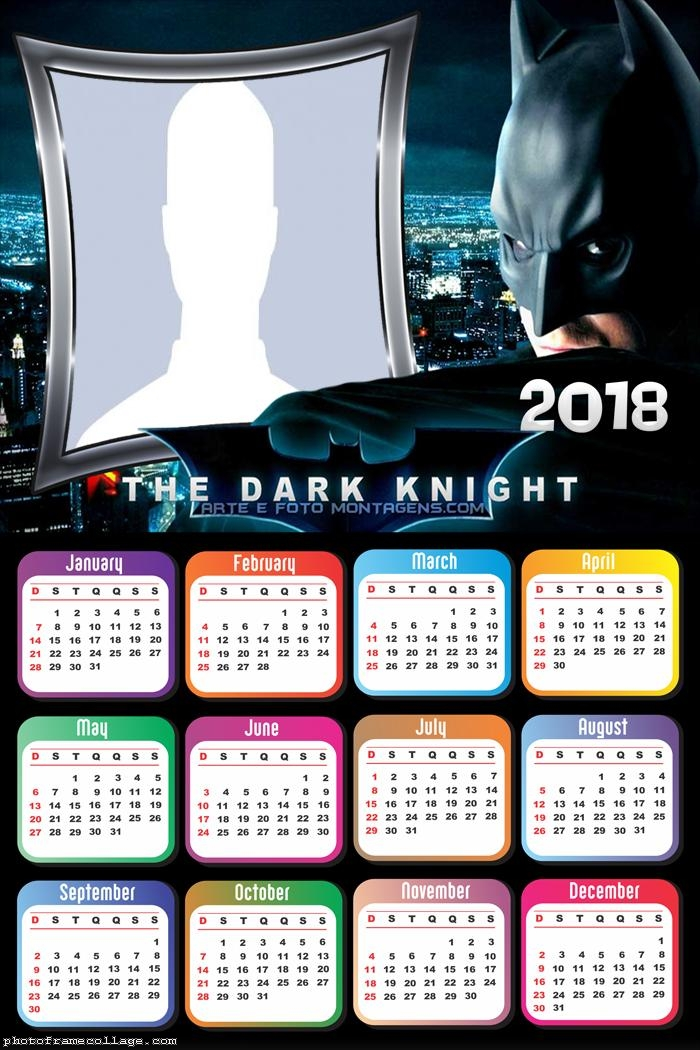 Calendar 2018 The Batman Dark