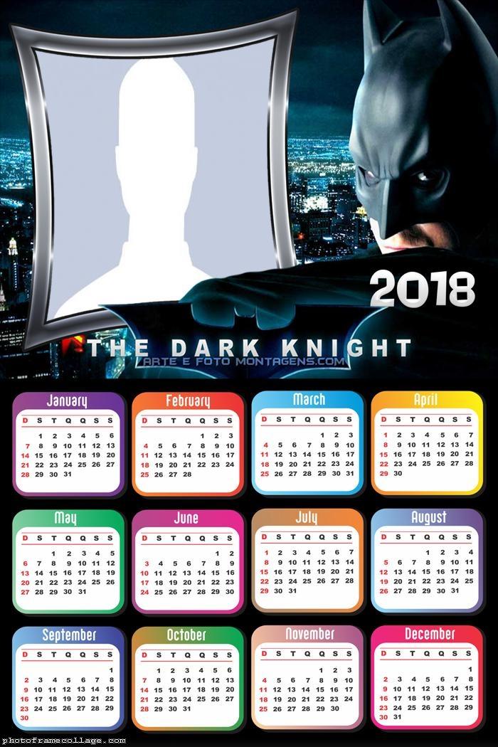Calendar 2018 The Batman Dark