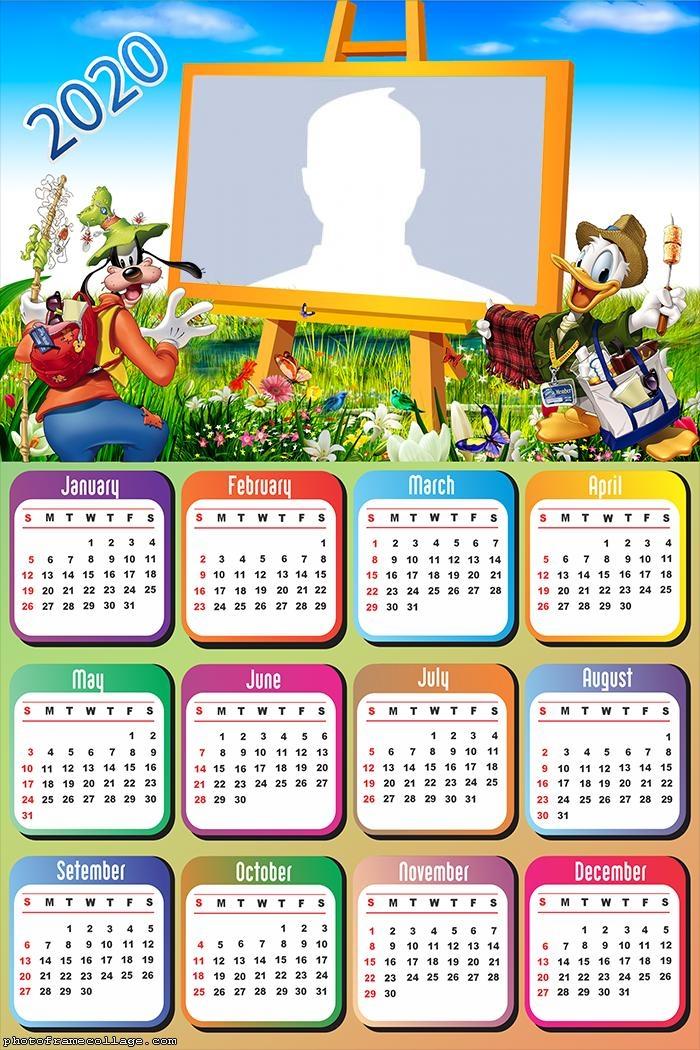 Pateta and Donald Calendar 2020