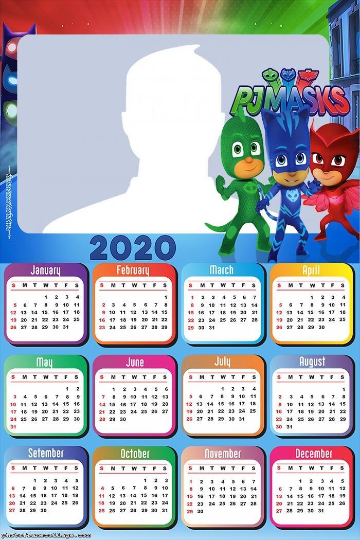 Calendar 2020 PJ Masks