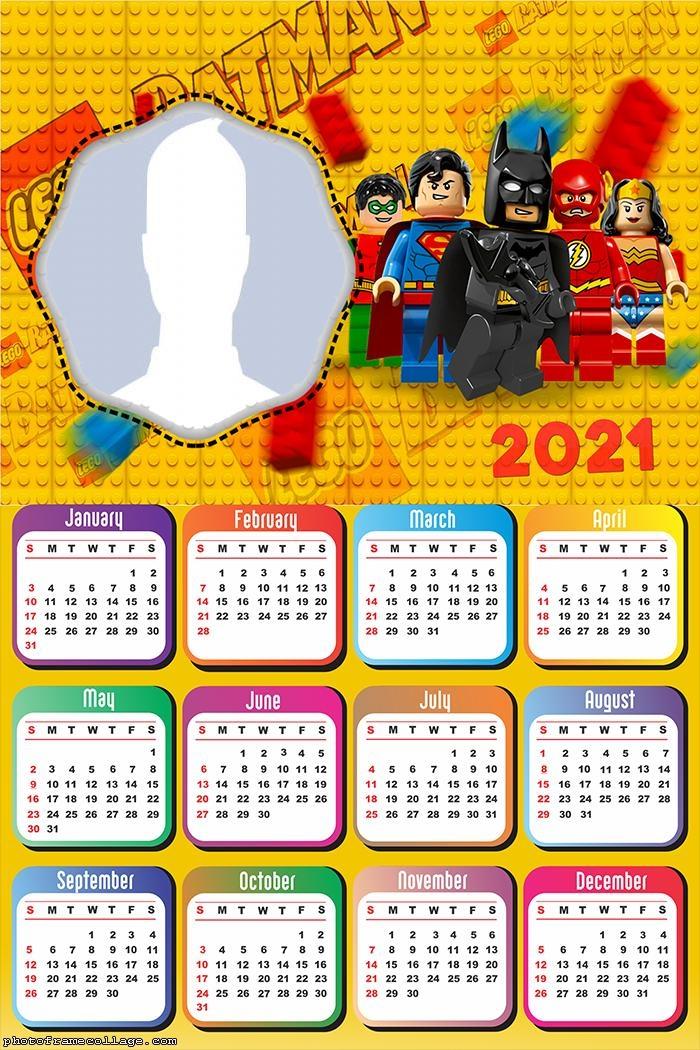 Calendar 2021 Batman Lego