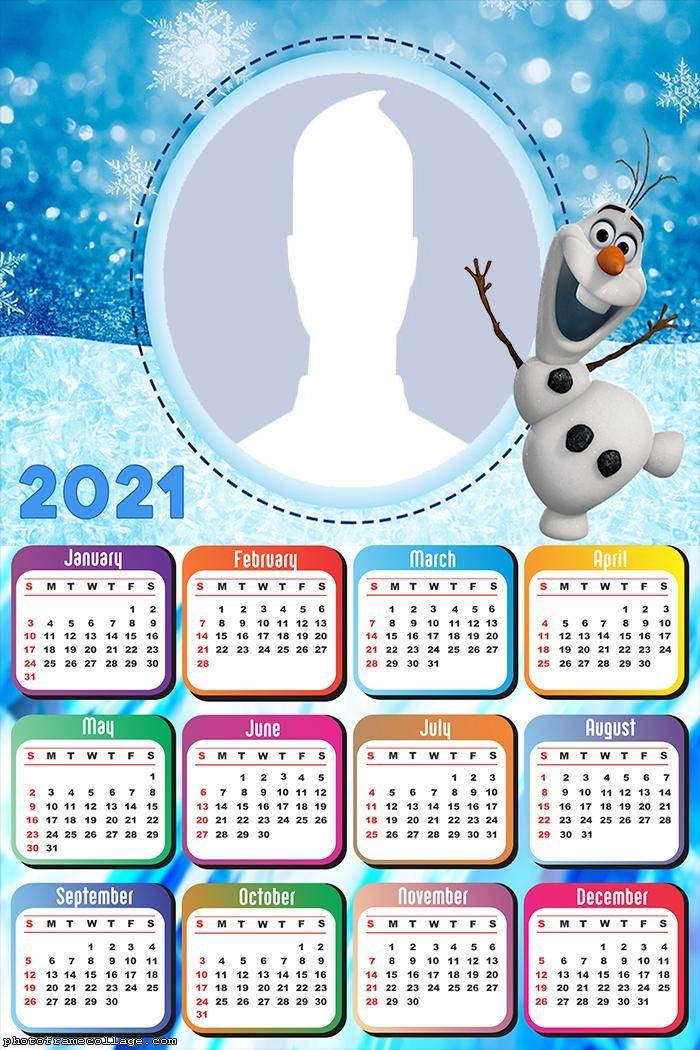 Calendar 2021 Olaf Frozen