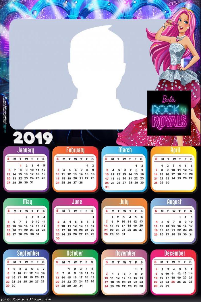 Barbie in Rock Royals Calendar 2019