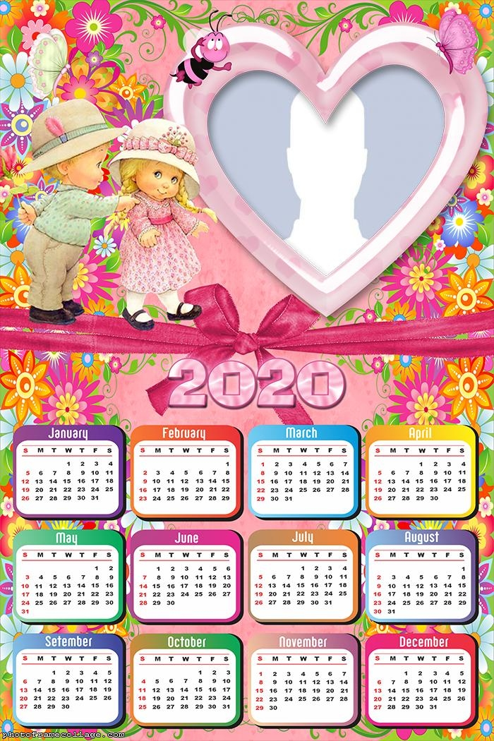Children Kids Calendar 2020