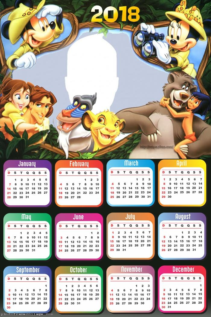 Calendar 2018 Mickey Safari
