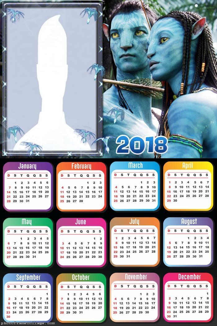 Calendar 2018 Avatar
