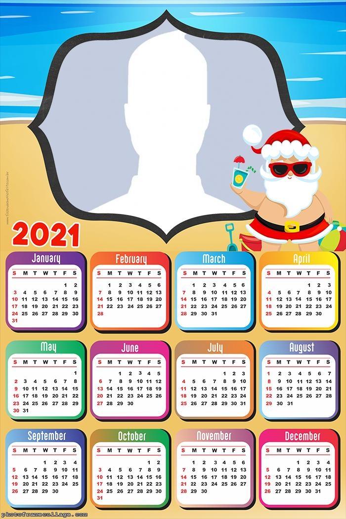 Calendar 2021 Santa Claus Drawing