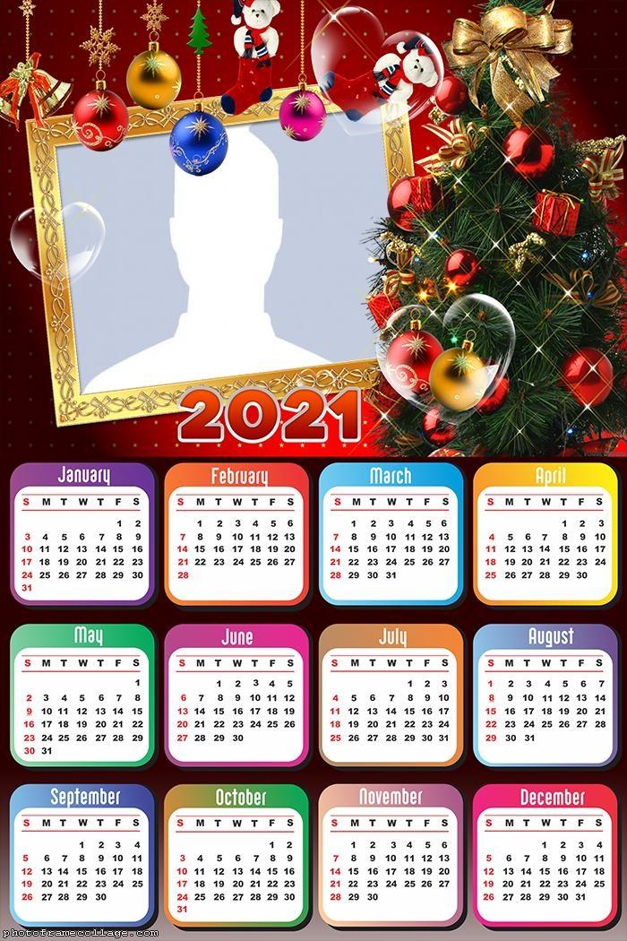Calendar 2021 Christmas Tree