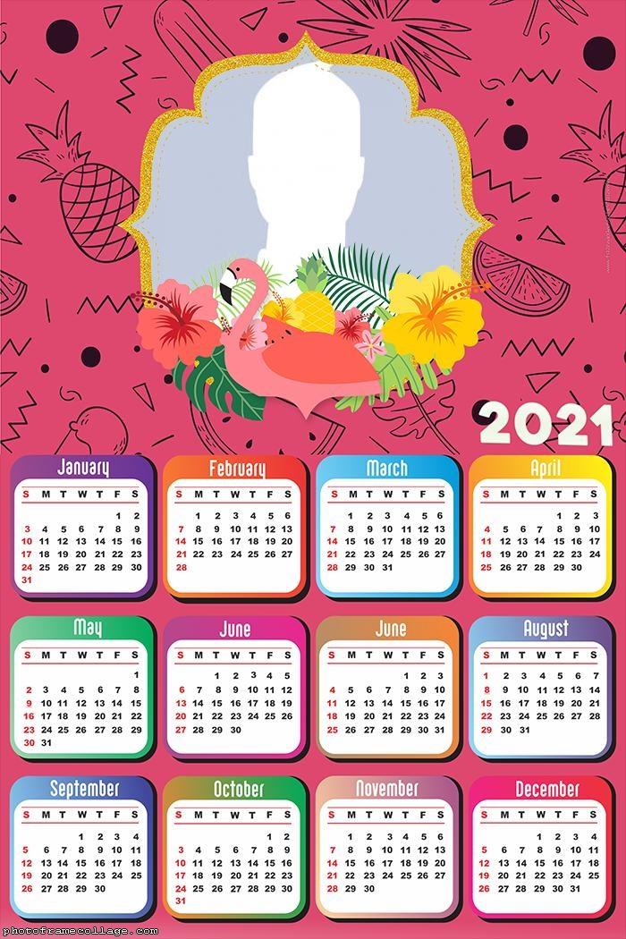 Calendar 2021 Flamingo Pink