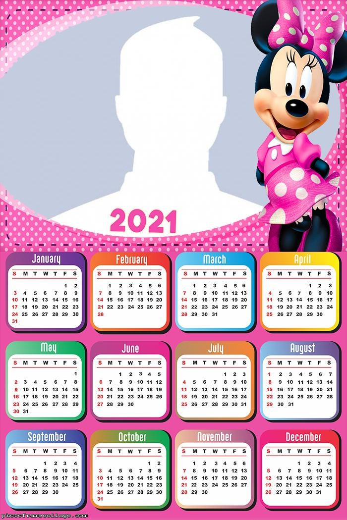 Calendar 2021 Minnie Mouse