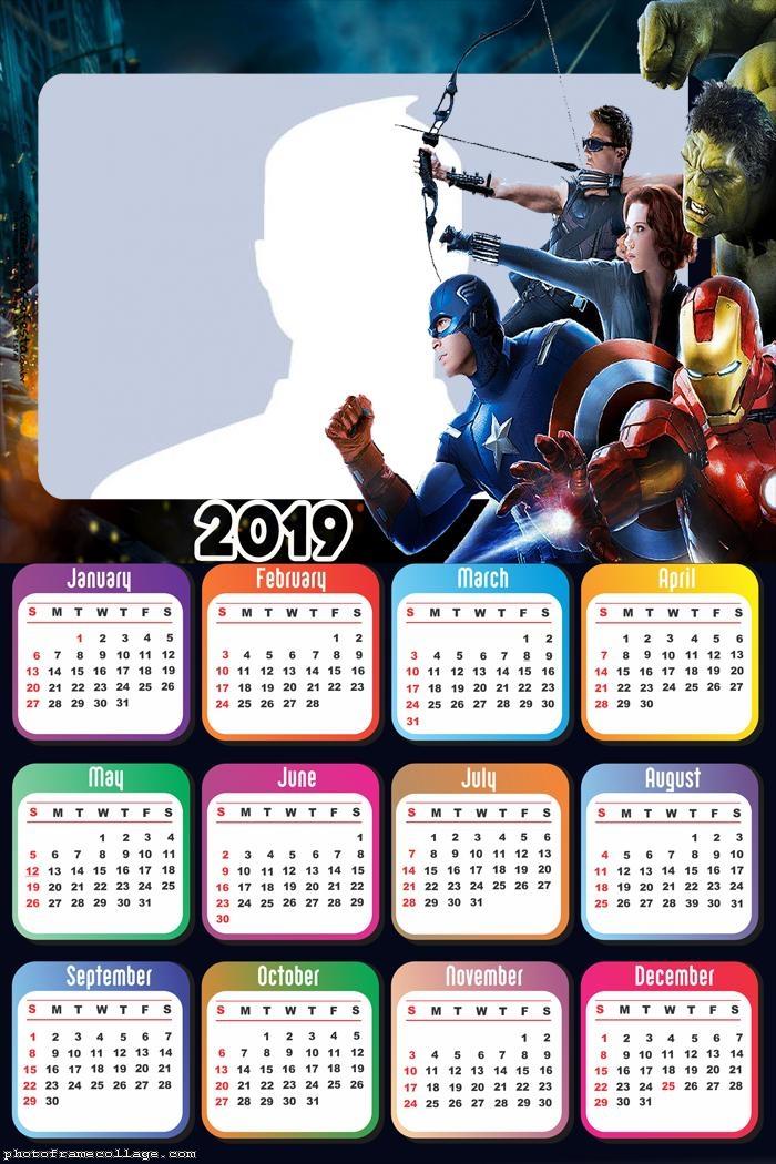 Avengers Movie Calendar 2019