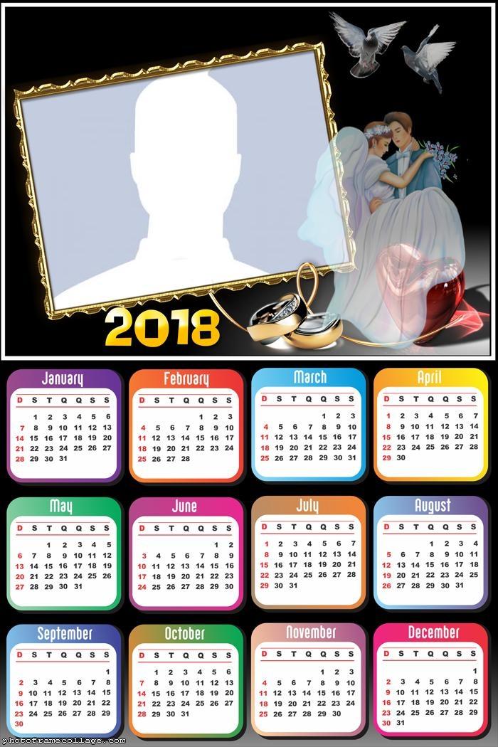 calendar 2018 wedding