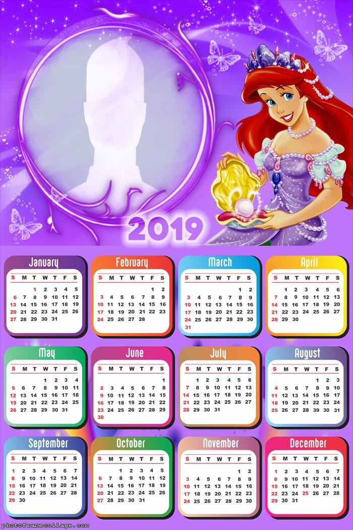 Ariel Princess Calendar 2019