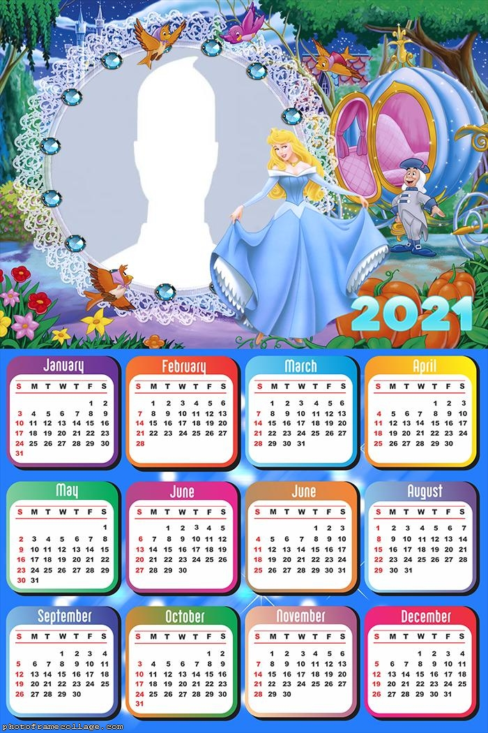 Calendar 2021 Cinderella