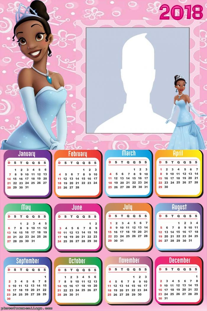 Calendar Princess Tiana