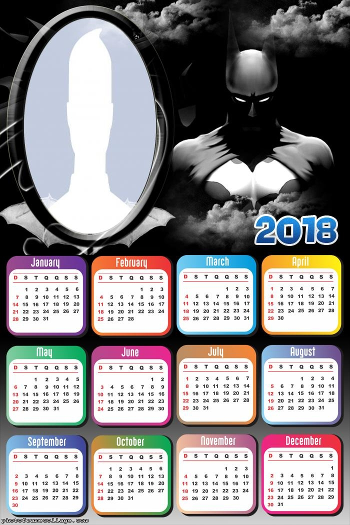 Calendar 2018 Batman Arkham Knight