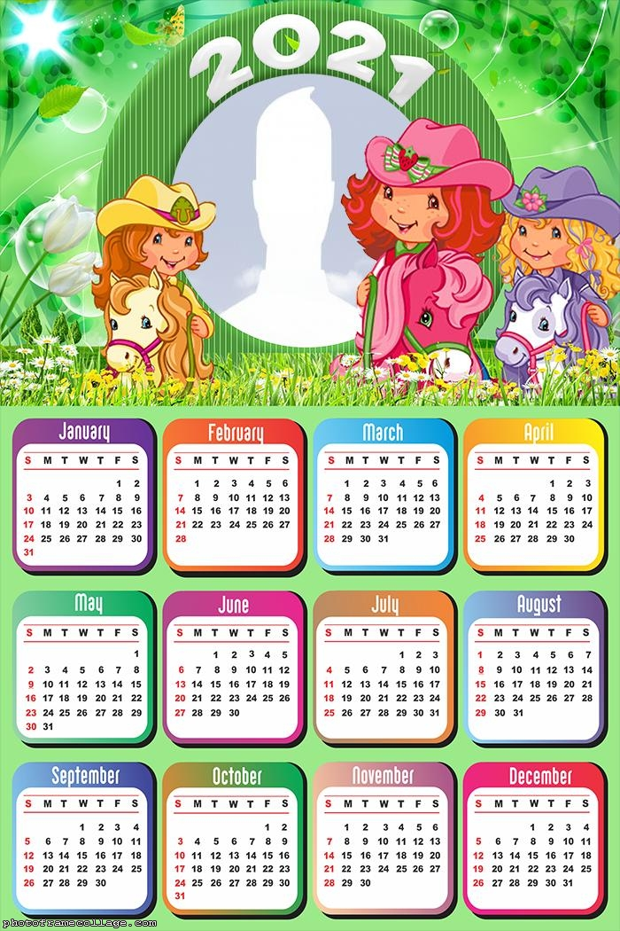 Calendar Strawberry Shortcake Characters 2021