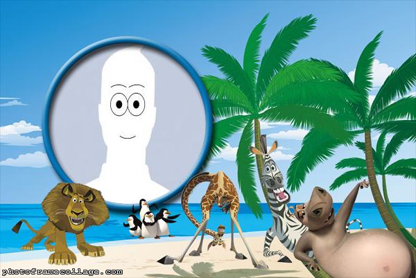 Photo Collage Online Free Madagascar Characters