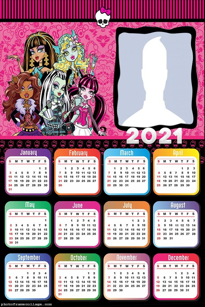 Monster High Calendar 2021