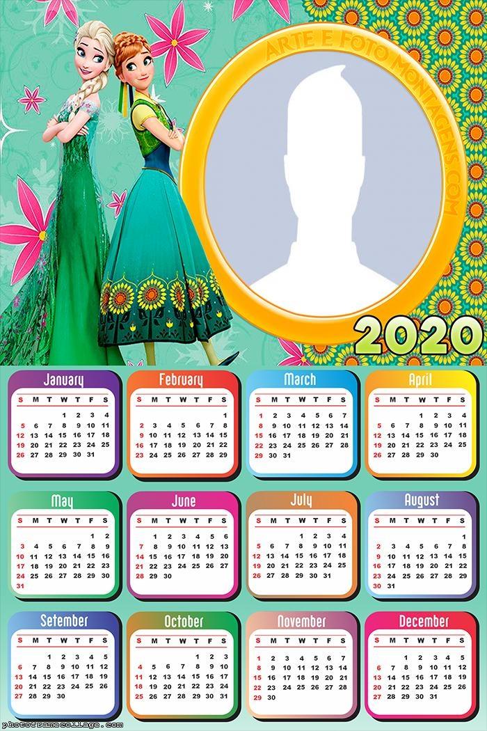 Princesses Frozen Calendar 2020