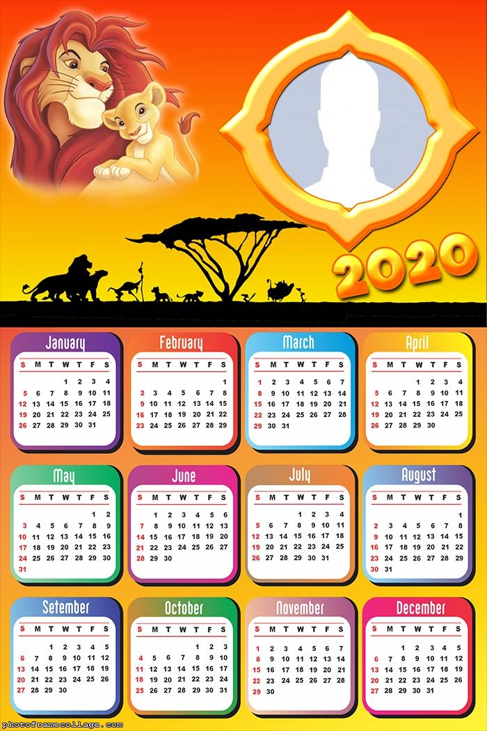 Lion King Calendar 2020 Photo Frame