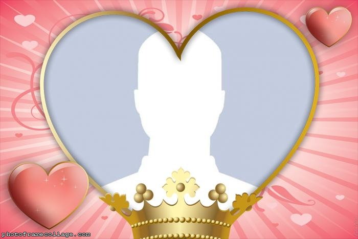 Heart Crown Valentines Day Collage