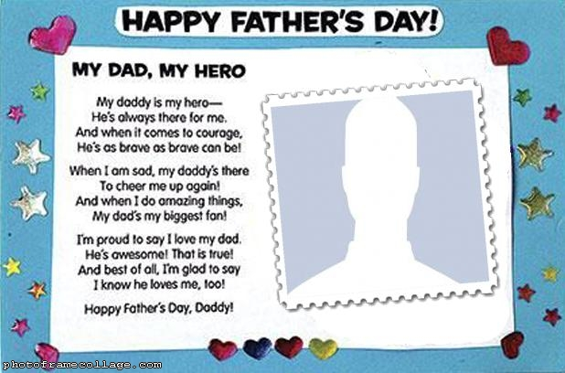 Message Fathers Day Photo Collage