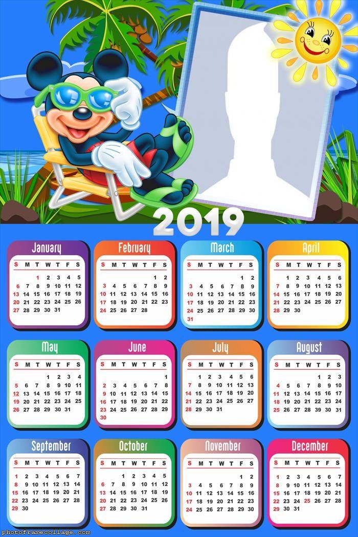 Mickey Vacation Calendar 2019