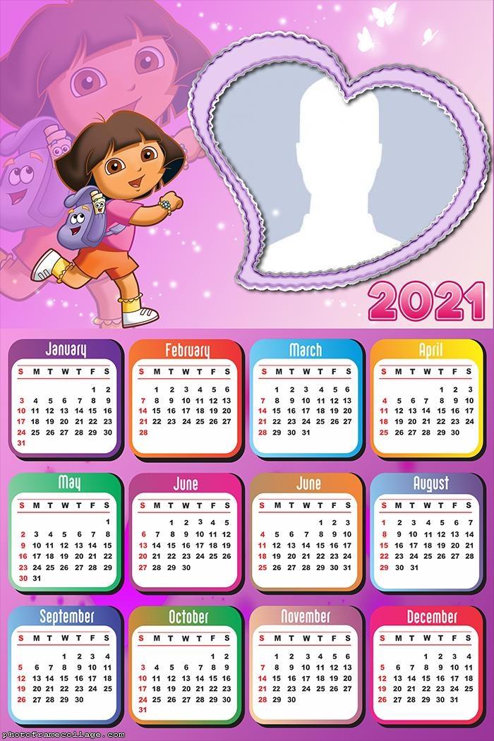 Calendar 2021 Heart Dora the Explorer