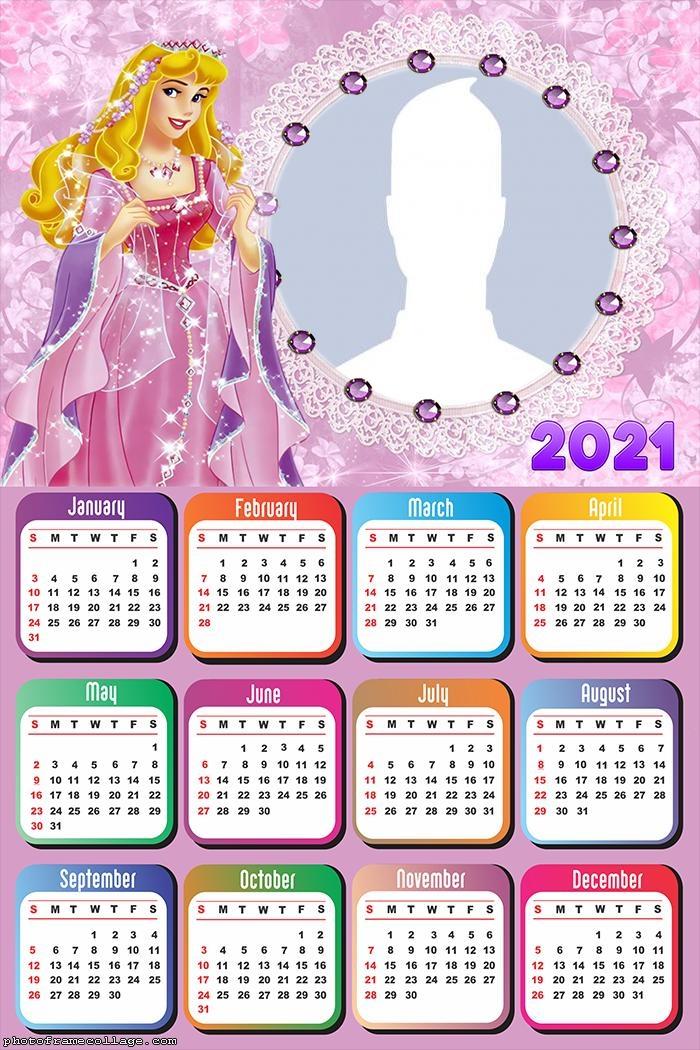 Calendar 2021 Princess Aurora