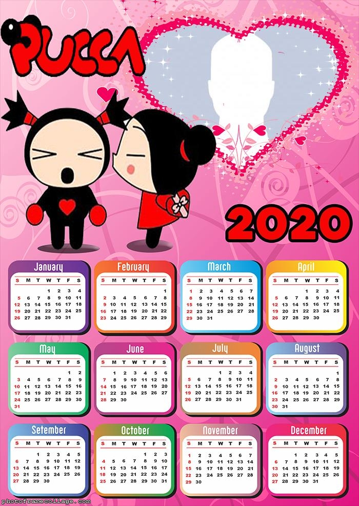 Pucca and Garu Calendar 2020