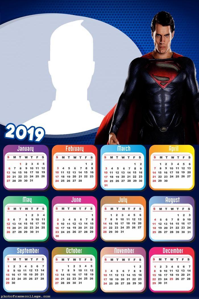 SuperMan Movie Calendar 2019